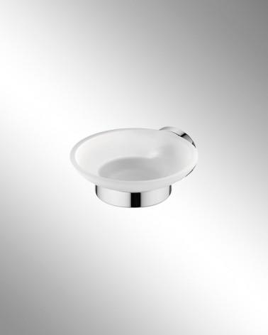 Jabonera de cristal translúcido Round