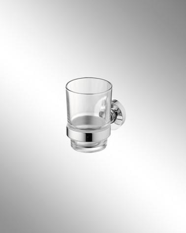 Portavasos de Cristal Transparente Round