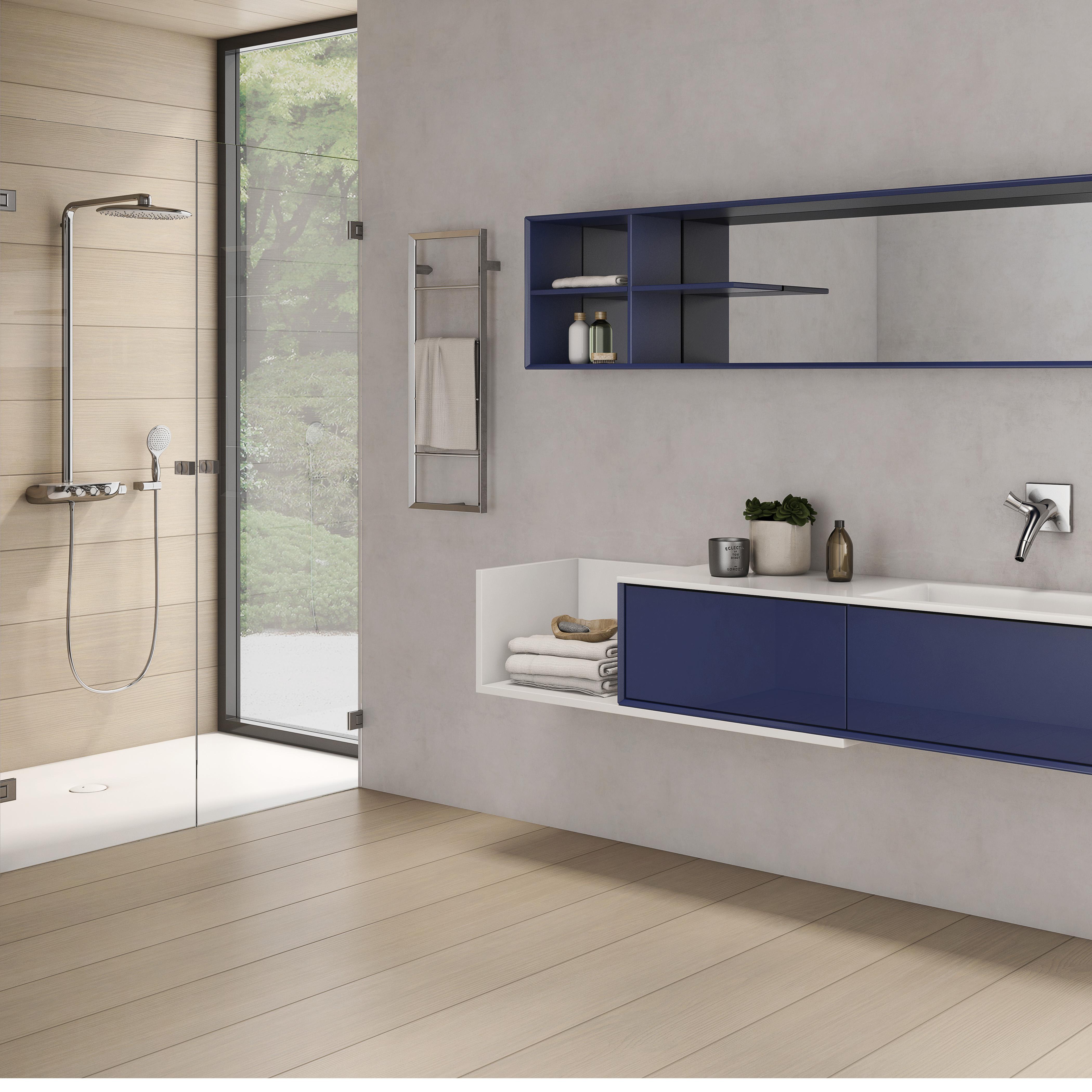 baño minimalista limpio