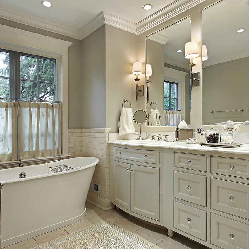 iluminación en el baño