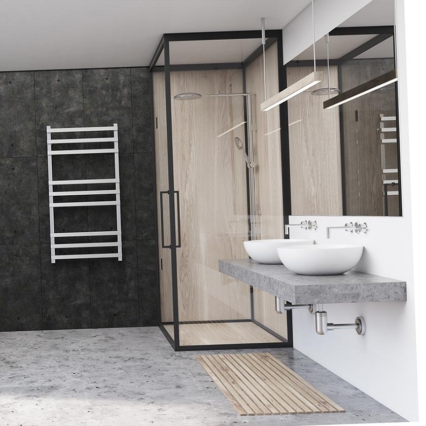 baños con mamparas de cristal