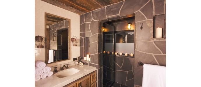 5 ideas de decoración rústica para baños pequeños
